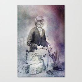 Feline Gentleman Canvas Print