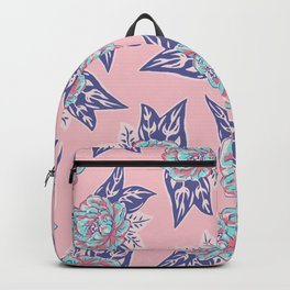 Cabbage Rose Tattoo Flash Backpack