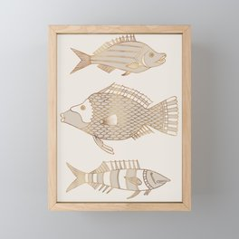Fantastical Fish 2 - Natural Framed Mini Art Print