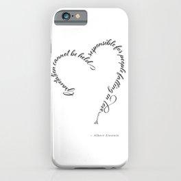 Einstein Love Quote iPhone Case