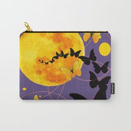 Puce Color Butterfly Full Moon Art Abstract Carry-All Pouch