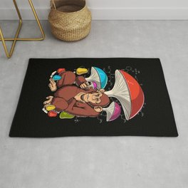 Psychedelic Psilocybin Magic Mushrooms Stoned Ape Rug