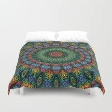 Polished Stone Mandala Duvet Cover