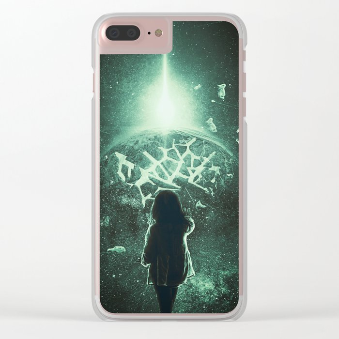 Pieces Of The Past Clear iPhone Case