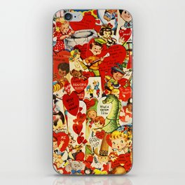 Vintage Valentine Cards - Love, Humor, Funny, Mermaids, Seahorse, Red Hearts,Couples, Reto Inspired iPhone Skin