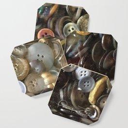 Button collection Coaster