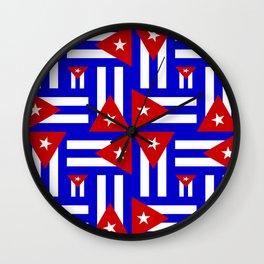 Cuban Flag- Multi Wall Clock