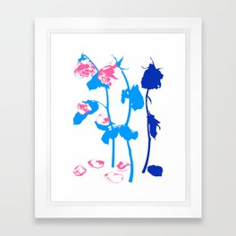 Roses are red. Framed Art Print