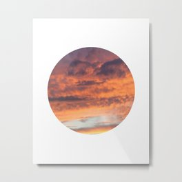 Berkshire Sunset II circle Metal Print