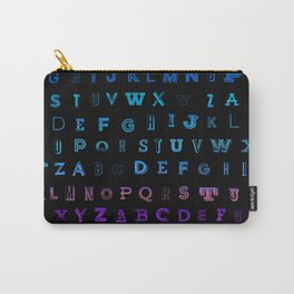 Alphabet Gradient Carry-All Pouch