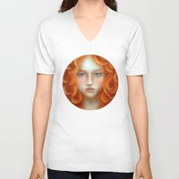 rebel V-neck T-shirts featuring Rebel by Alexia Rose