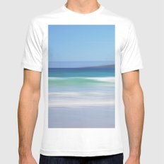 On The Beach MEDIUM Mens Fitted Tee White