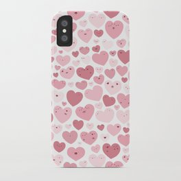 Lovely Hearts Doodle iPhone Case