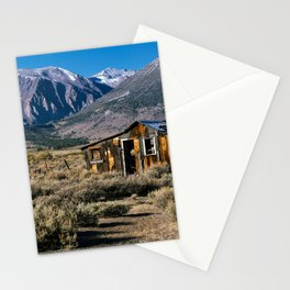 Old cabin at Mono lake, CA. Stationery Cards