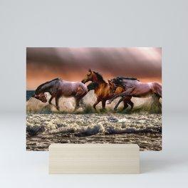Runing Horses Mini Art Print