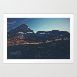 Glacier Snow Art Print