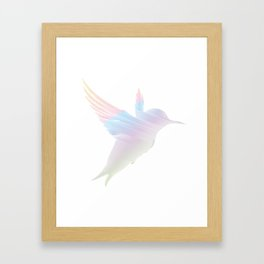 Think Freely and Fly Far Away from birth to everlong... Framed Art Print