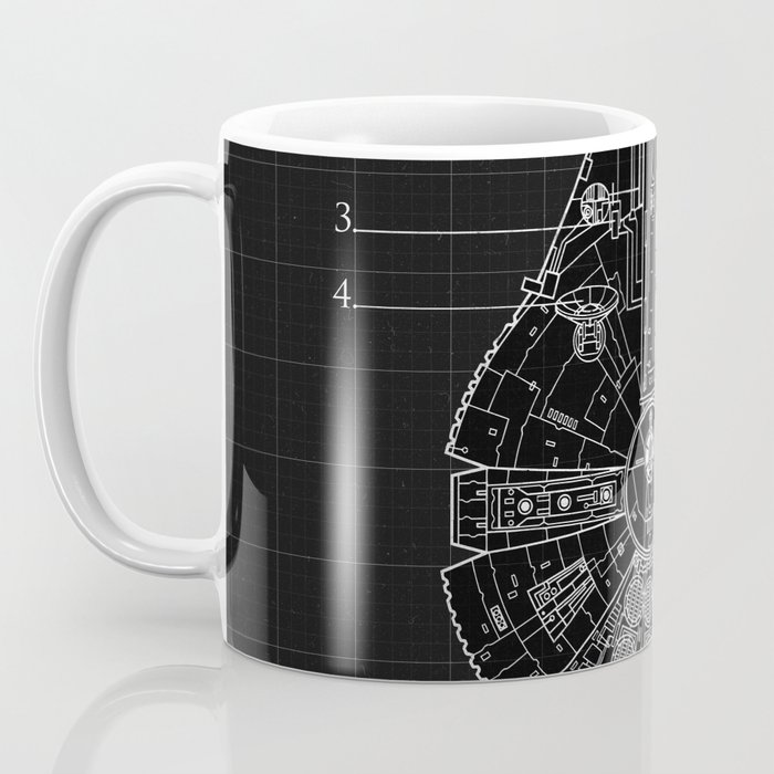 Millennium falcon blueprint coffee mug by fernandomoran society6 millennium falcon blueprint coffee mug malvernweather Choice Image