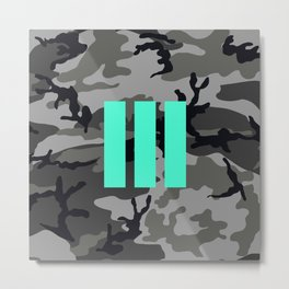 Military - Camouflage Metal Print
