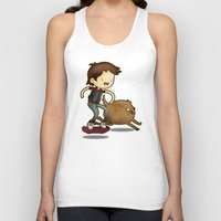 back to the future Tank Tops featuring Back to the Future by Unihorse