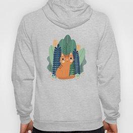 Orange Garden Cat Hoody