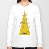 sci fi Long Sleeve T-shirts featuring watch sci-fi by alex lodermeier