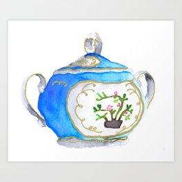 Sugar Bowl Water Color Art Print