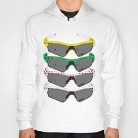 tour de france Hoodies featuring Tour de France Glasses by Pedlin