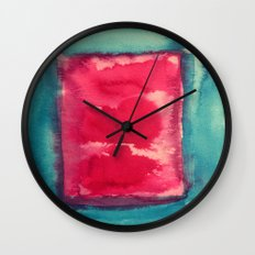 color abstract 8 Wall Clock