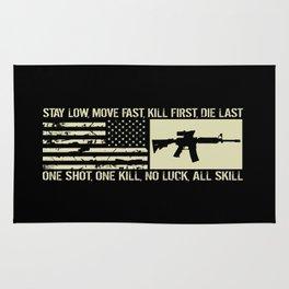 M4 Assault Rifle & Tactical Flag Rug