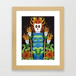 Calavera Tikis Framed Art Print