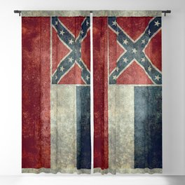 Mississippi State Flag - Distressed version Blackout Curtain