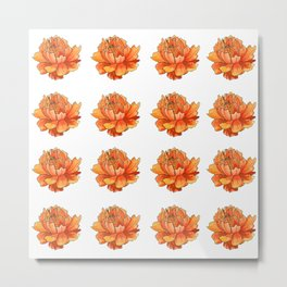 Siberian flower pattern Metal Print