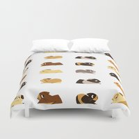 guinea pig Duvet Covers featuring Guinea pigs by stephasocks