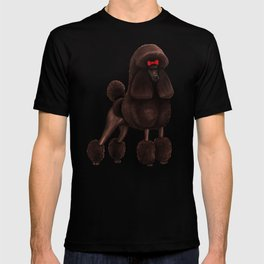 Poodle Pattern - Red T-shirt