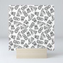 Sneakers // Black & White Mini Art Print