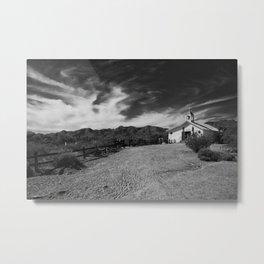 Church in a Field Metal Print