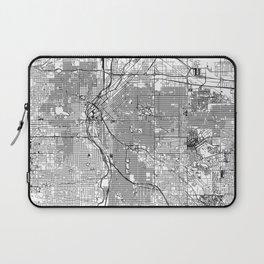 Denver White Map Laptop Sleeve