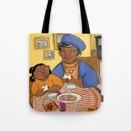 A grandma's love and ham sandwiches  Tote Bag