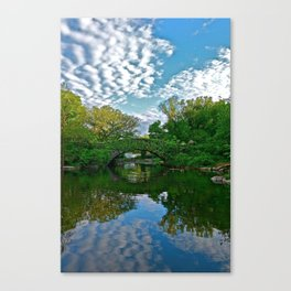 The Pond Reflections 2 - Gapstow Bridge, Central Park, NYC Canvas Print