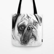 Cute Pug Art By Annie Zeno Tote Bag