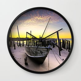 Bursts Of Fire In The Sky  Wall Clock