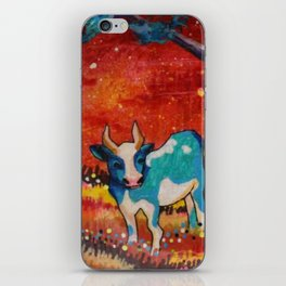 cow not boy iPhone Skin