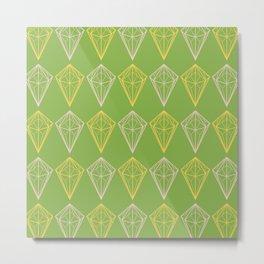 Greenery Diamonds Metal Print