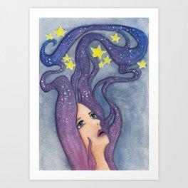 Galaxy Dreamer Art Print