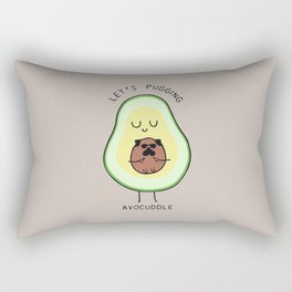 LET'S PUGGING AVO- CUDDLE Rectangular Pillow