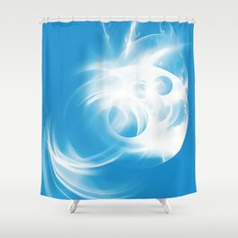 abstract fractals 1x1 reacwb Shower Curtain
