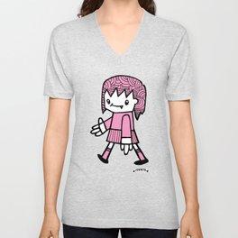 Girl Walking Unisex V-Neck