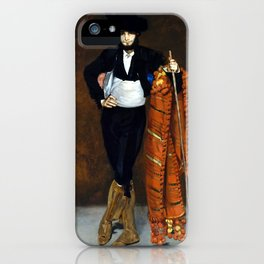 Édouard Manet Young Man in the Costume of a Majo iPhone Case