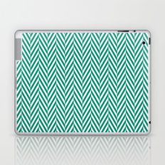 Teal Herringbone Laptop & iPad Skin